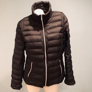Michael Kors Jacket Packable Down Fill, Black Larg